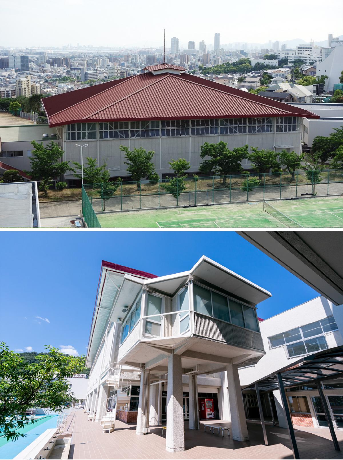 体育館と体育研究室